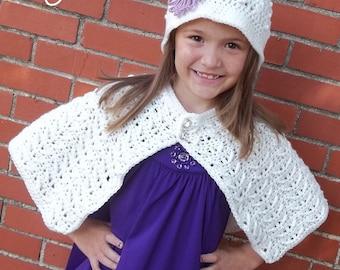 Callie Cape & Cloche Set - PDF Crochet Pattern - Instant Download