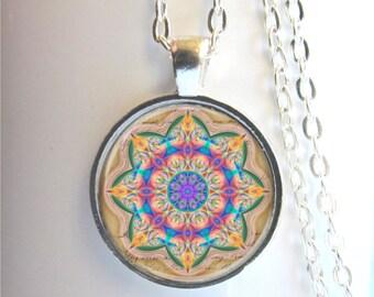 Mandala Pendant, Mandala Art Necklace, Mandala Jewelry