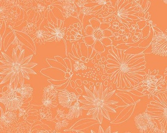Sahuaro Picks Tang - Morning Walk - Leah Duncan - Art Gallery Fabric - 100% Quilters Cotton Available - Yards, Half Yards FQ's MWK-1111
