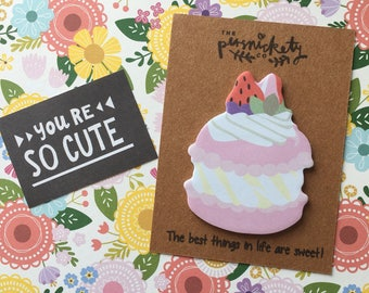 Dessert Sticky Note / Memo Note / Desk Note - The Best Things In Life Are Sweet.