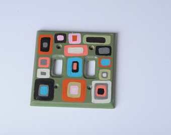 hand painted switch plate