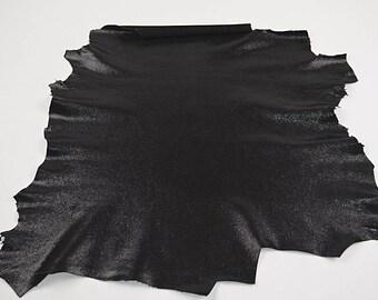 Black lambskin leather velvet finish (2017080708)