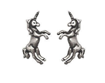 Unicorn Earrings           studs post silver gold jewelry sterling small