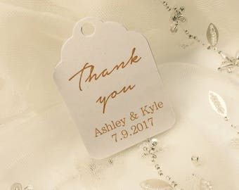 Gold Wedding Favor Tags - wedding favour tags - thank you tags - wedding thank you tags - favor tags - favour tags