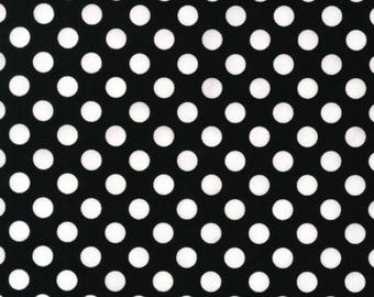 1/2 yd Spot On Black and White Polka Dot by Robert Kaufman EZC128722