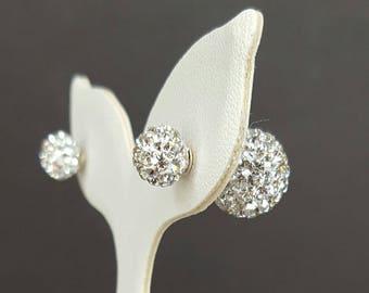 Sterling Silver Crystal Balls Earrings, Crystal Earrings, Stud Earrings, Birthday Gift, Mother's Gift
