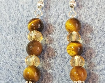 Tiger's Eye and Austrian Crystals