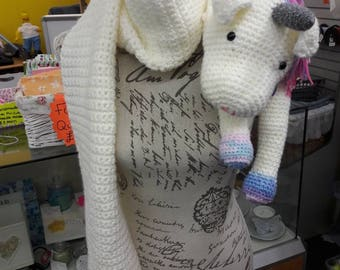 Crocheted Unicorn Scarf