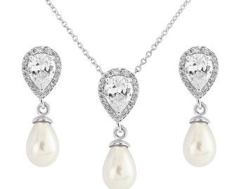 bridal necklace, wedding necklace, bridal jewelry, crystal necklace, pearl necklace, bridesmaid necklace, bridal earrings, bridal jewelry