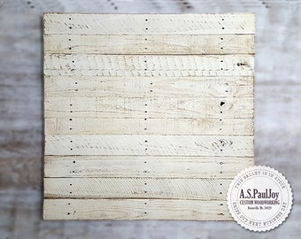 Blank Distressed White Pallet Canvas ETSY Food Photography Background Surface  Reclaimed Recycled Rustic Wood. Spring Decoration. Wall Art