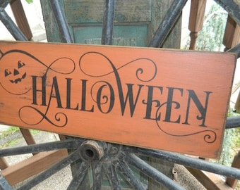 Halloween pumpkin Primitive Sign