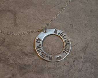 Coordinates sterling silver open necklace