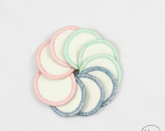 Reusable cleansing pads - zero waste - 9 cleansing washable cottons - cleansing pads - washable face cleansers