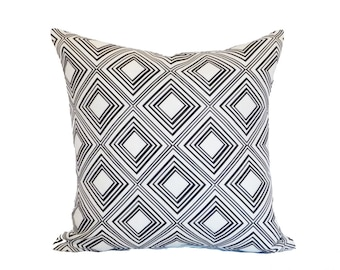 clearance discontinued 50 % off  huge sale geometric black white tin celing  pillow cover throw pillow 18x18 linen graphic home decor