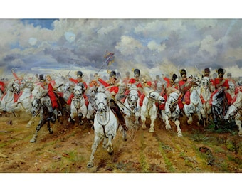 Butler - Scotland Forever! by Lady Elizabeth Butler beautiful fine art print in choice of sizes