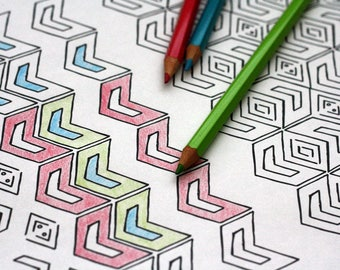 """Tribal Patterns - 10 Printable Coloring Pages - 8.5"""" x 11"""""""