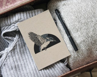 A6 'Kingfisher' Illustrated Notepad