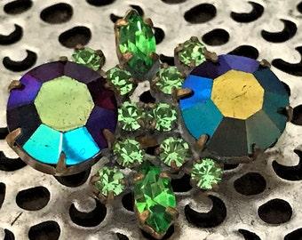 Vintage Rhinestone Button, Vintage Glass Button, DIY Rhinestone Button, Crystal Cloak Button, Vintage Glass, Button, Cosplay Button