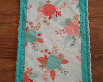 Boho Burp Cloths / Burp Rags / Set of 2 / Floral Burp Rags / Baby Shower Gift / Baby Girl / Ready to Ship