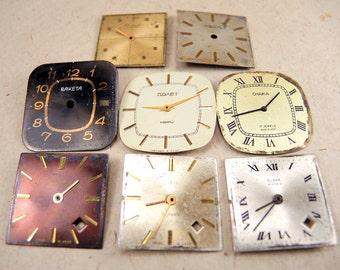 Vintage Watch Faces - set of 8 - c24