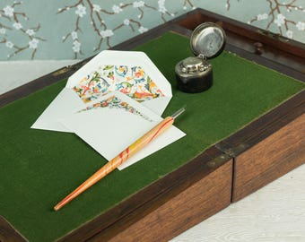 Antique Writing Box - Writing Slope with Inkwell