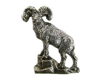Premium Bighorn Sheep Full Body ~ Lapel Pin/Brooch ~ M027PR,MC027PR,MP027PR