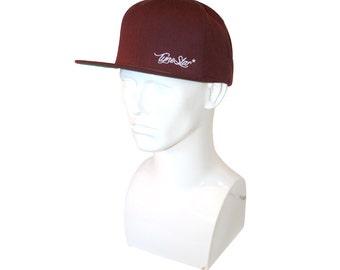 TyneStar* Signature Snapback Baseball Cap Burgundy