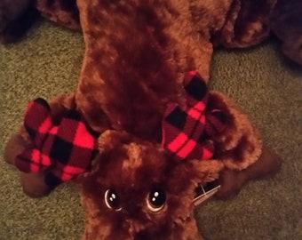 Large Moose Soft Cuddly, Home Decor Plush Animal