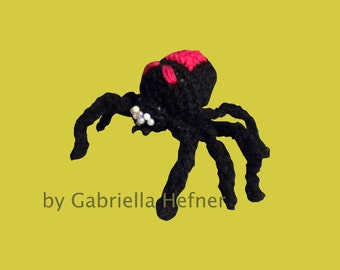 Amigurumi Halloween black widow pattern
