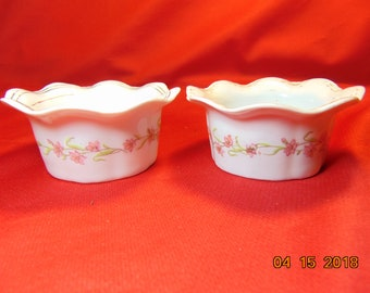 Two (2) , Porcelain Ramekins, from Victoria China, of Austria.