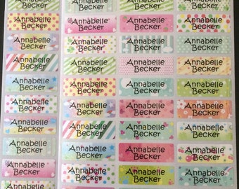 78 Personalize Waterpoof Baby Kids Children Daycare School Shimmer Name Label Stickers