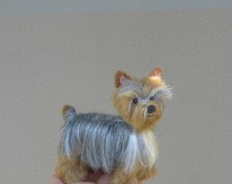 Your Pet in Miniature / Custom made / Cute / poseable / Dog Art / example Yorkshire Terrier