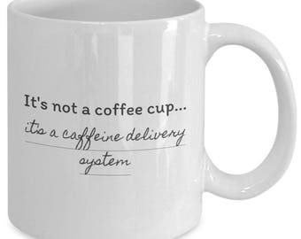 This coffee cup isn't just any old coffee cup - it helps you get the boost you need to start your day.