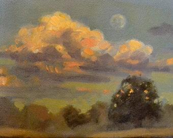 """5"""" x 7"""" original oil painting landscape"""