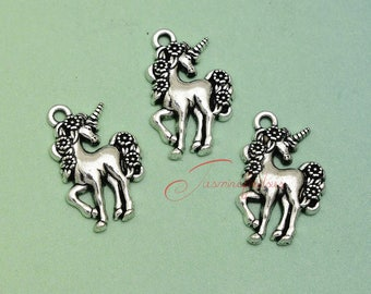 20PCS--23x15mm ,Unicorn Charms , Antique silver Unicorn charm pendant, DIY supplies,Jewelry Making LCM5010