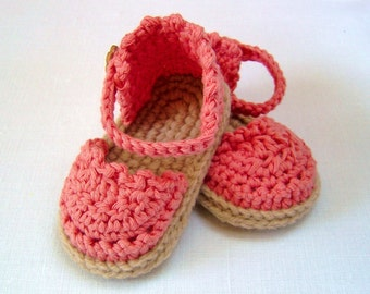 CROCHET PATTERN Baby Espadrille Sandals Easy Photo Tutorial Crochet Baby Sandals Pattern instant download Digital File