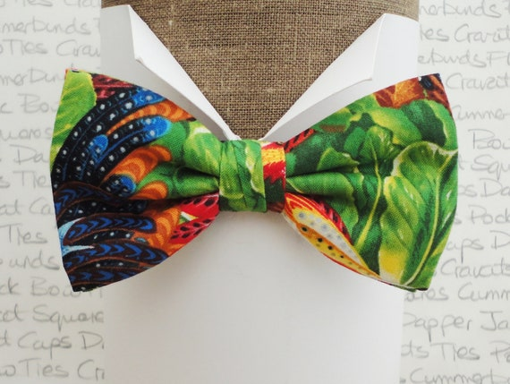 Bow tie, tropical theme bow tie, bow ties for men