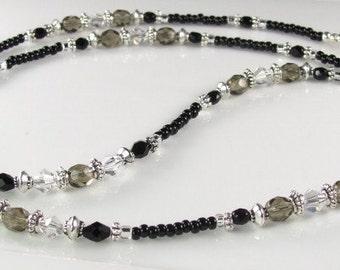 Black Beauty Eyeglasses Chain glass beaded eyeglass leash gifts for her
