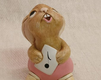 Pendelfin Rabbit Rolly Figurine, hand painted stonecraft.