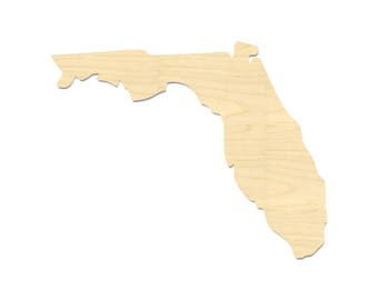 Florida State Shape- Laser Cut Florida State Shape