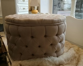 Large stool with fabric cover