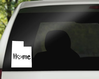 Utah Decal, State Decal, Home Decal, Utah Car Decal, Laptop Decal, Tumbler Decal, Home Car Decal, Vinyl Decal, Water Bottle Decal