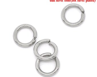 AX5 - Set of 50 6mm stainless steel split rings