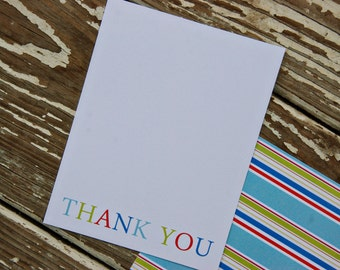 Thank You Note Cards - big colorful thank you