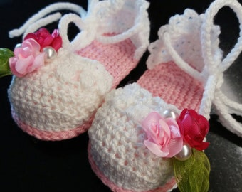 Woven Sandals/espadrilles for girls with flowers
