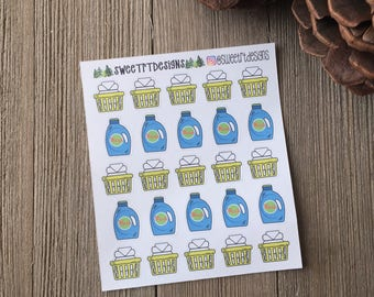 Functional Multi Luandry Planner Stickers
