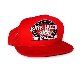 Bike Week Daytona 1991 50th Anniversary Trucker Hat