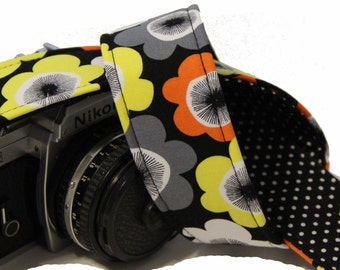SLR, DSLR Camera Strap - Bright Buds mit Polka Dot Futter von Howard Avenue