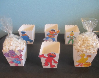 Abby Cadabby,Popcorn Boxes(20)Sesame Street,Abby Party,Abby Favor boxes,Abby Treat Boxes,Abby Party Favors,Elmo Birthday,Elmo,Cookie Monster