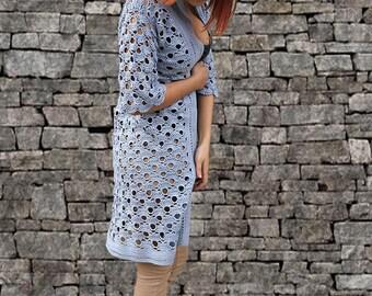 PDF CROCHET PATTERN - Crochet Cardigan, Crochet Sweater, Womens Cardigan, Clothing Pattern, Crochet Jacket
